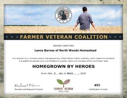 Farmer Veteran Coalition Homegrown by Heroes certification